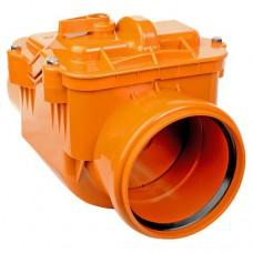 Клапан обратный ПВХ для внешней канализации, 110 мм