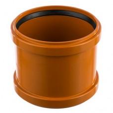 Муфта ПВХ для внешней канализации, 110 мм