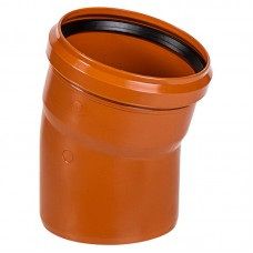 Отвод ПВХ для внешней канализации, 110 мм 15°
