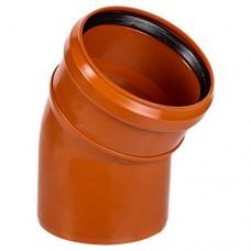 Отвод ПВХ для внешней канализации, 110 мм 30°