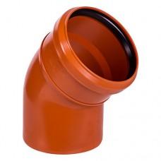 Отвод ПВХ для внешней канализации, 110 мм 45°