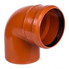 Отвод ПВХ для внешней канализации, 110 мм 90°