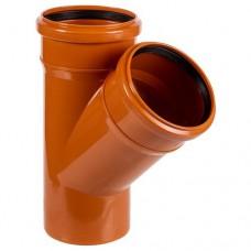 Тройник ПВХ для внешней канализации, 110x110-45°