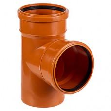 Тройник ПВХ для внешней канализации, 110x110-90°