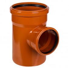 Тройник ПВХ для внешней канализации, 160x110-90°